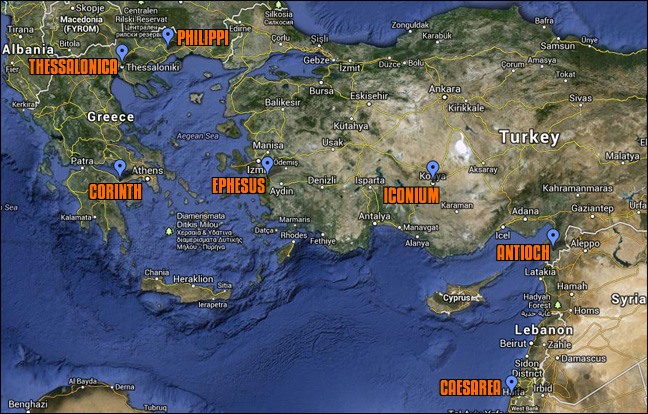 Early Churches Map | They All Practiced Head Coverings