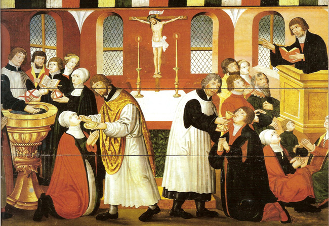 Martin Luther Preaching Painting (1561)