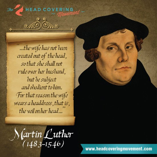 Martin Luther Quote Image #1 | The Head Covering Movement