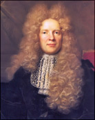 Man Wearing Periwig