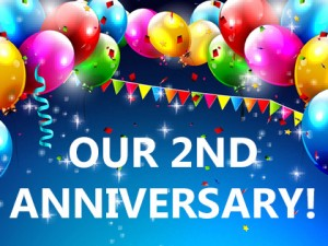 It's our 2nd Anniversary today!