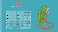 Feb 2019 Posting Calendar (Small)