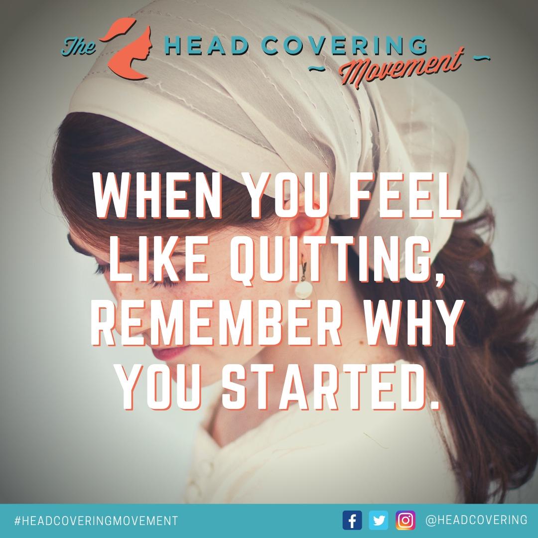 #HeadCoveringMotivation (#1)